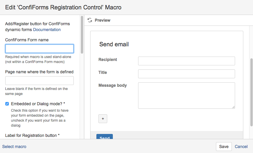 Creating embedded form to send emails - Vertuna WIKI - ConfiForms