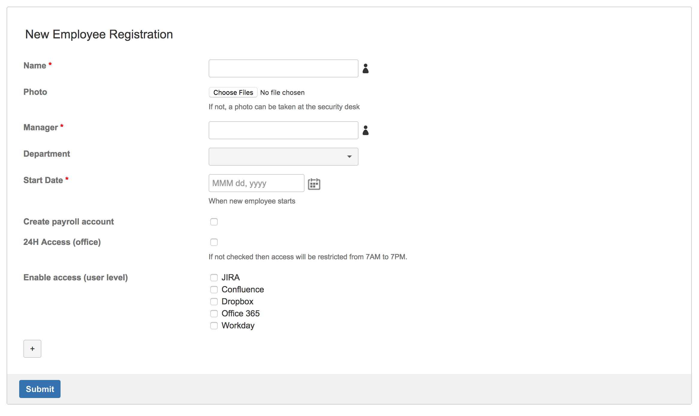 6 simple HR forms you can use in Confluence - TEST - Vertuna WIKI