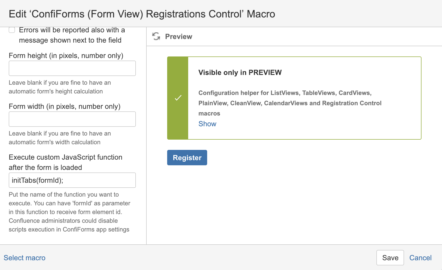 Creating tabbed form with ConfiForms and Refined UI toolkit