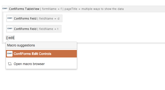 Multiple ways to show your form data in Confluence with