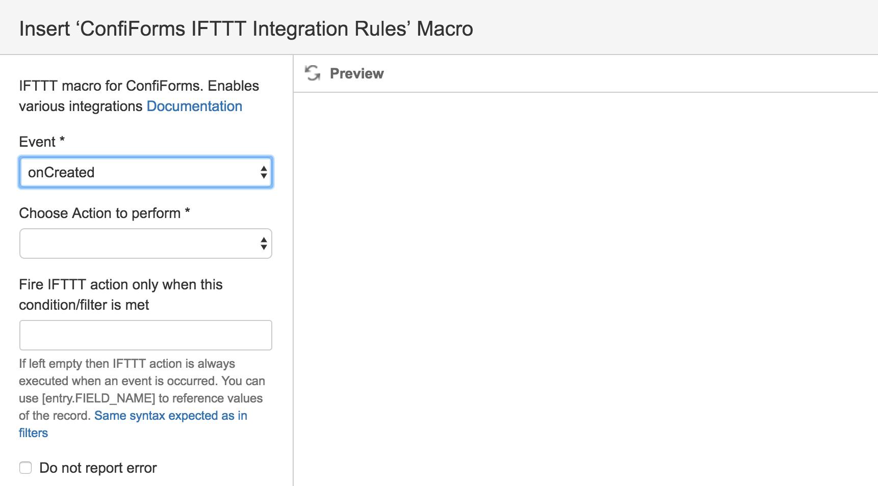 Configuring ConfiForms IFTTT actions - ConfiForms - Vertuna WIKI
